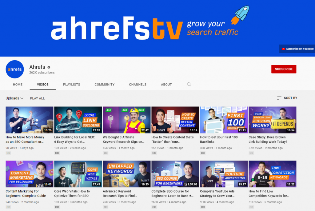 Ahrefs video marketing strategy