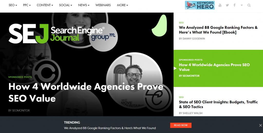 Search Engine Journal homepage screenshot