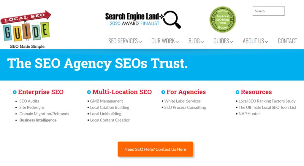Local SEO Guide homepage screenshot