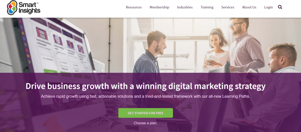 Smart Insights homepage screenshot