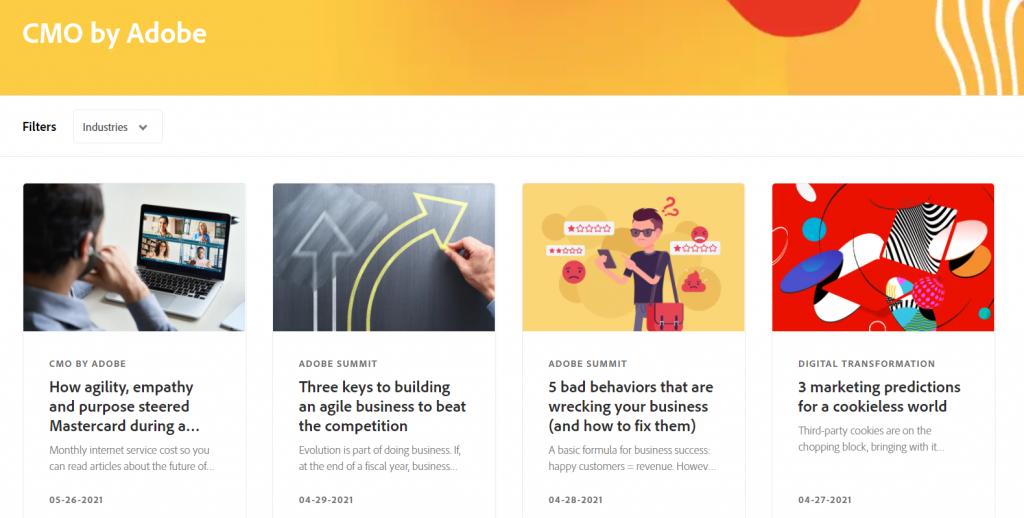 CMO by Adobe homepage screenshot