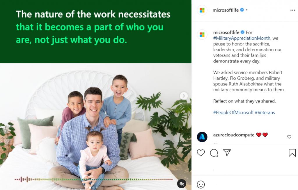 Microsoft Instagram strategy