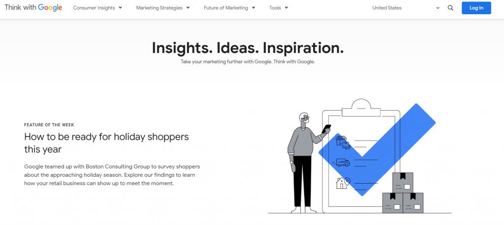 think with google homepage screenshot