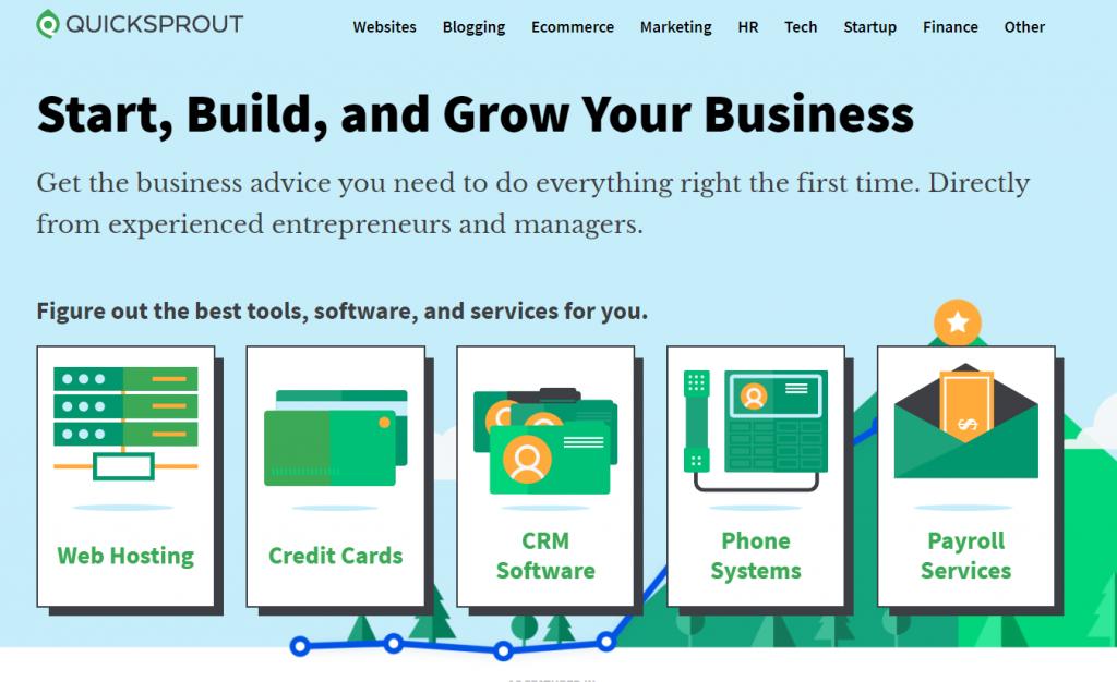 quicksprout homepage screenshot