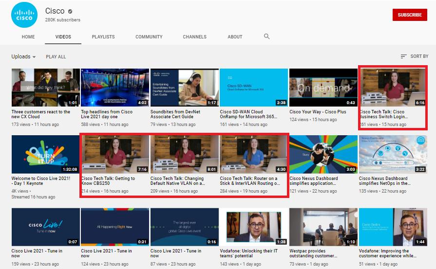 Cisco YouTube video marketing