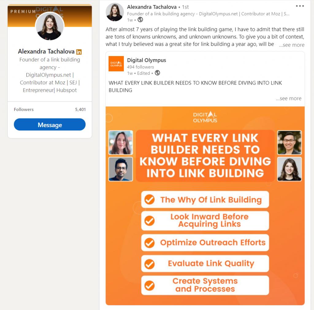 Digital Olympus brand awareness LinkedIn