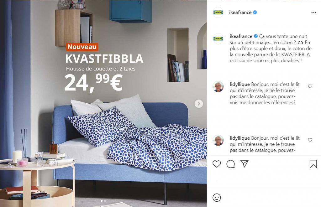 IKEA France Instagram startegy
