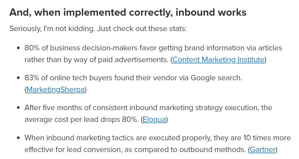 impact inbound vs. outbound marketing