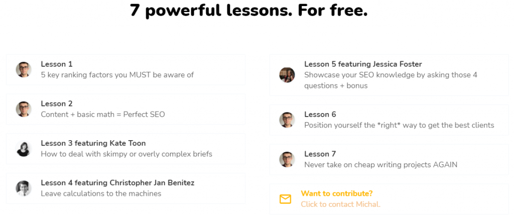 Surfer SEO email course