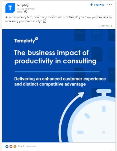 Templafy LinkedIn strategy